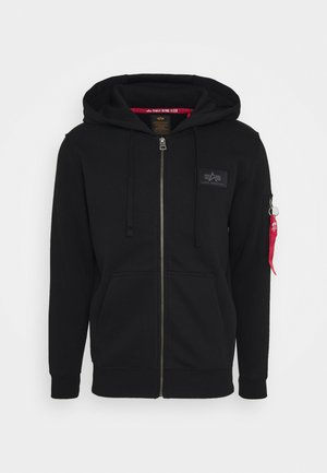 BACK PRINT ZIP HOODY - veste en sweat zippée - black