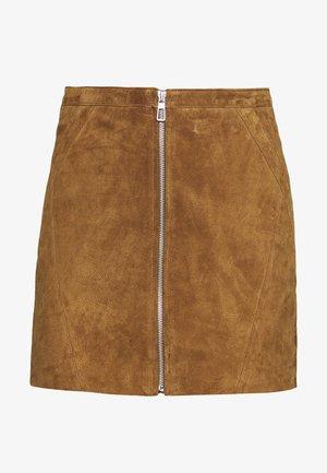 ONLCAMARA SKIRT - Leather skirt - argan oil