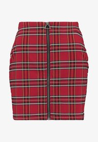Urban Classics - LADIES SHORT CHECKER SKIRT - Mini skirt - red/black - 3
