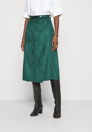 PIECED WRAP SKIRT - Áčková sukně - jade