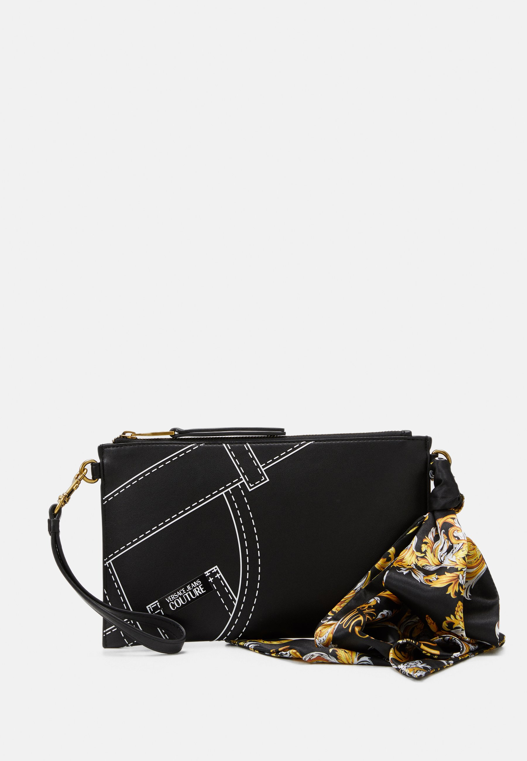 Versace Jeans Couture Crossbody Flatcuciture Print - Skuldertasker Nero