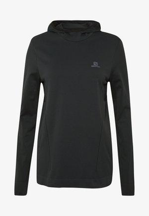 AGILE MID HOODIE - Langærmede T-shirts - black