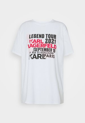 KARL LEGEND TOUR - Print T-shirt - white