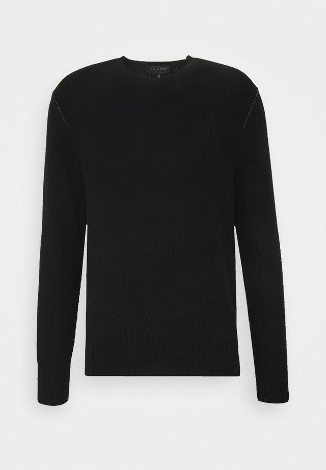 HALDON CREW - Strickpullover - black