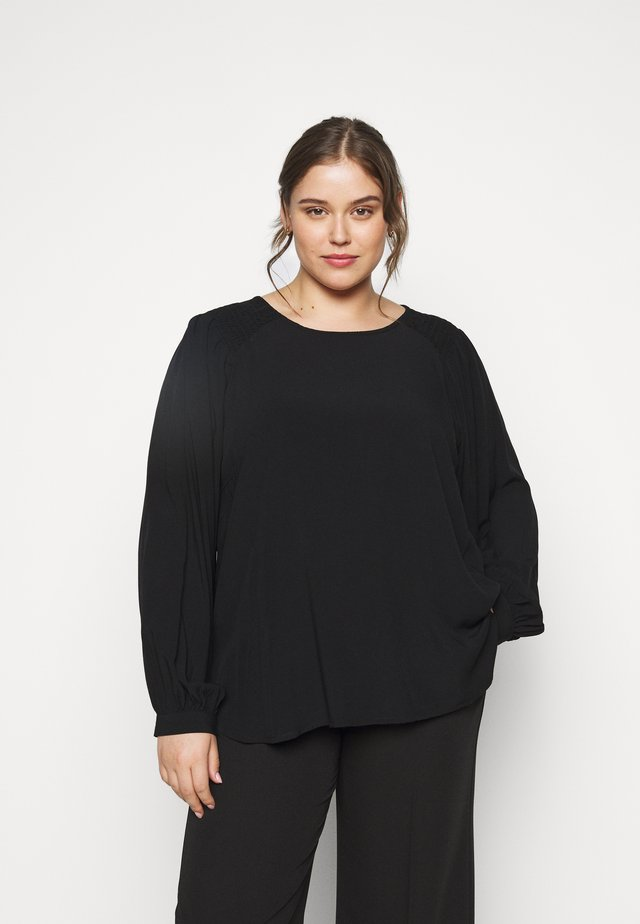 CARAKU SMOCK BLOUSE SOLID - Blouse - black
