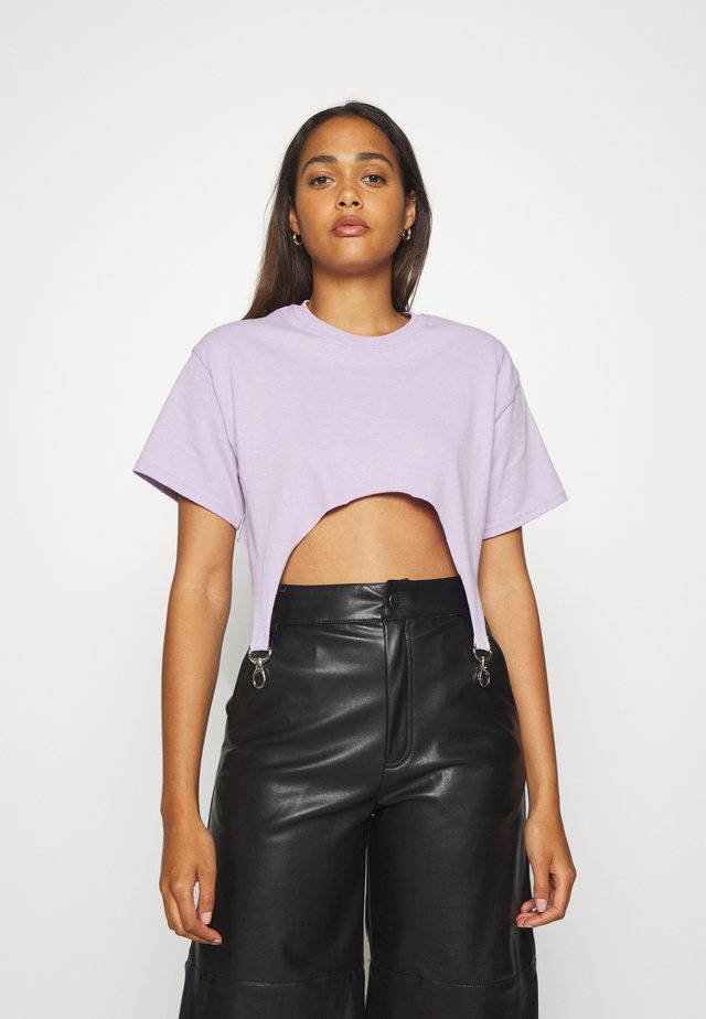 TEE WITH TRIGGERS - T-Shirt basic - lilac