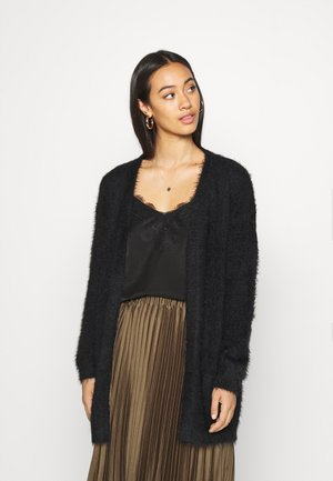 VMPOILU LONG OPEN CARDIGAN - Gilet - black