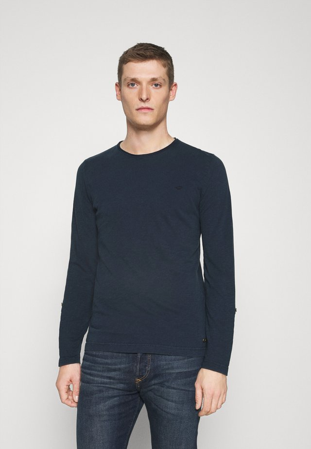 ANTON CREW - Print T-shirt - dark blue