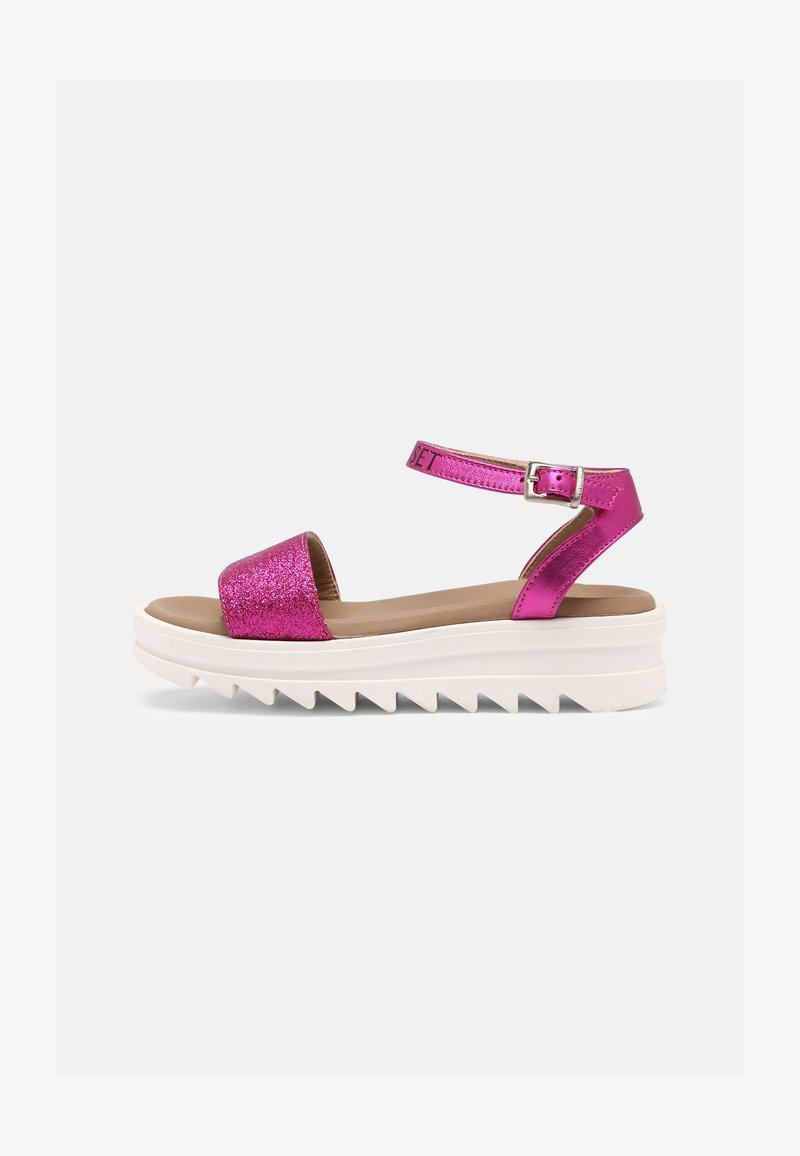 TWINSET - GLITTER - Sandals - fuchsia purple