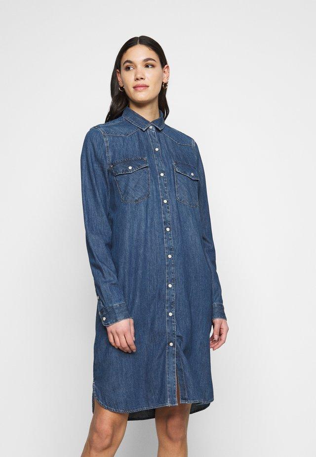 WESTERN DRESS  - Spijkerjurk - medium indigo