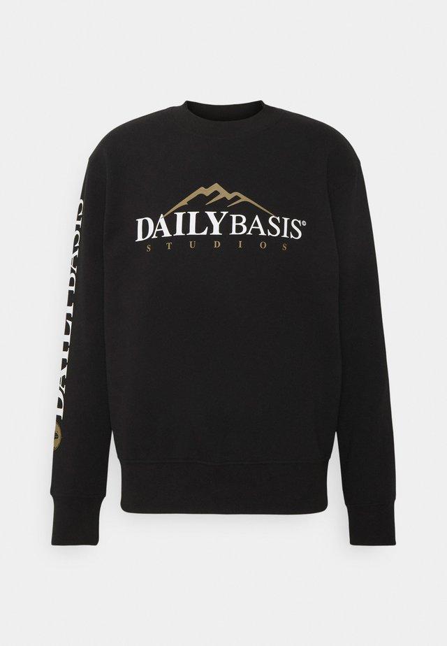 EXPLORER CREW UNISEX - Sweatshirt - black