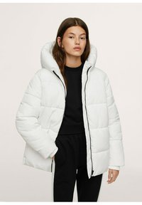 Mango - STEPP-ANORAK MIT KAPUZE - Winter coat - wit - 0