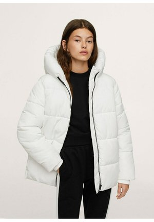 STEPP-ANORAK MIT KAPUZE - Winter coat - wit