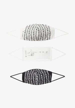 3 PACK - Community mask - schwarz/weiß