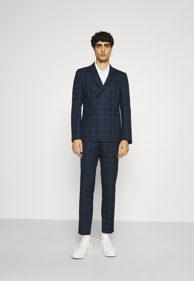 Viggo - TENN DOUBLE BREASTED SUIT - Oblek - navy
