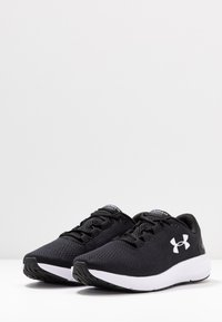 Under Armour - CHARGED PURSUIT 2 - Neutral running shoes - black/white - 2