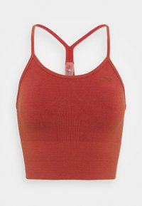 ONLY Play - ONPJARI CROP - Light support sports bra - red ochre - 0