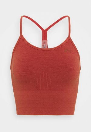 ONPJARI CROP - Light support sports bra - red ochre
