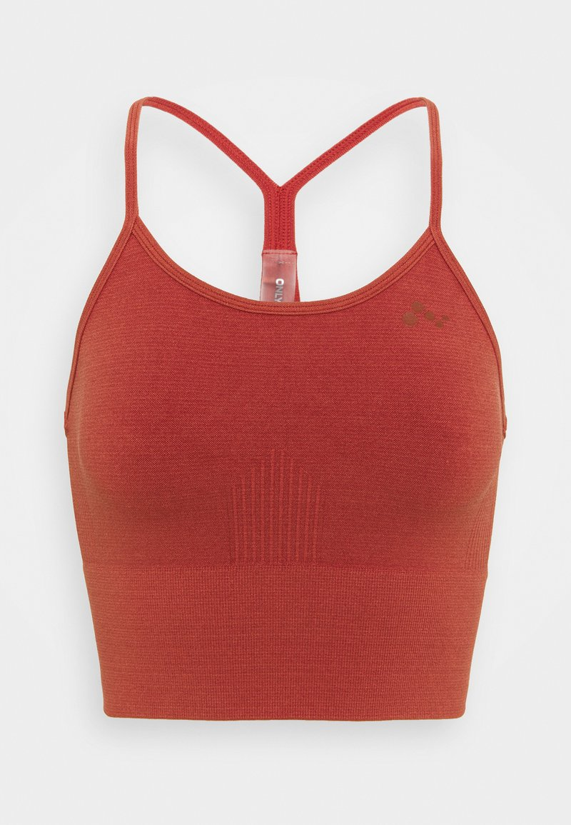 ONLY Play - ONPJARI CROP - Light support sports bra - red ochre