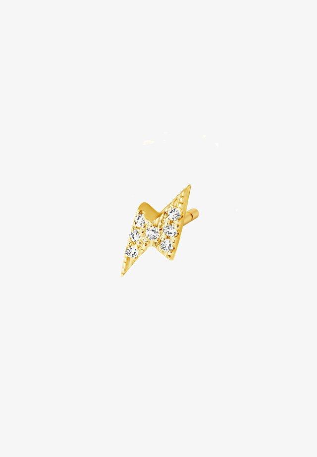 THUNDER DIAMOND SINGLE EARRING - Boucles d'oreilles - 18k yellow gold vermeil