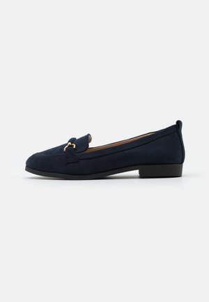 WIDE FIT LOON SNAFFLE LOAFER - Nazouvací boty - navy
