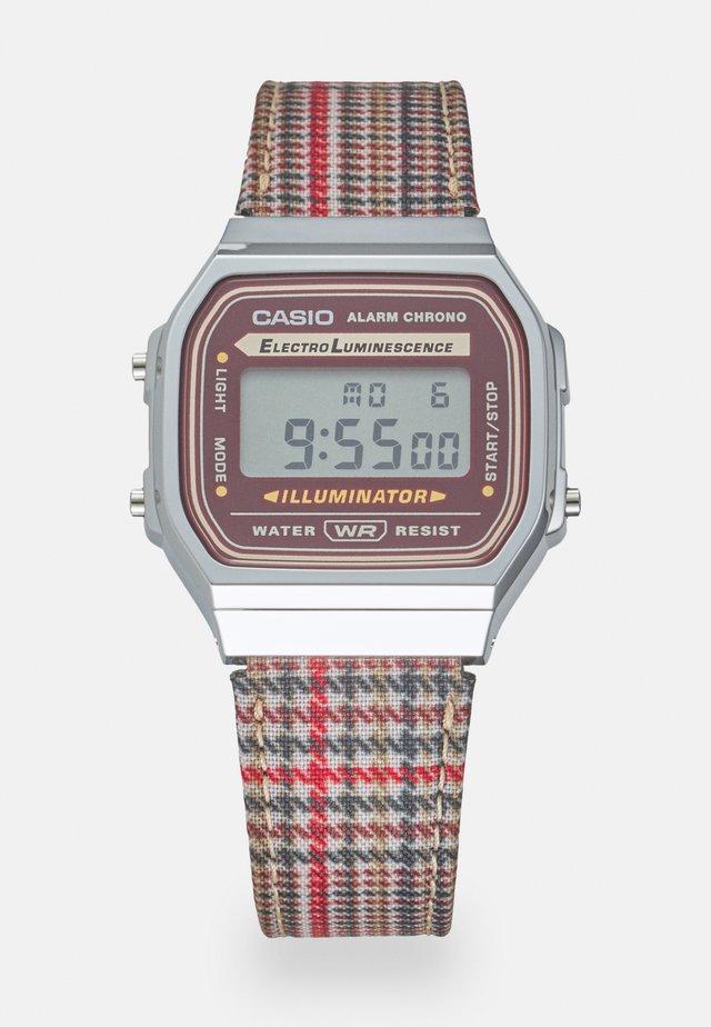 PUNTO UNISEX - Reloj digital - bordeaux/silver-coloured