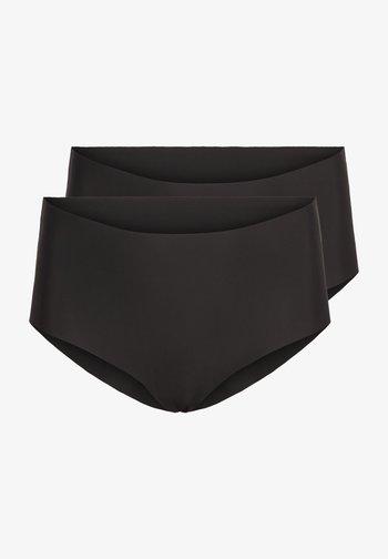 2-PACK - Pants - black