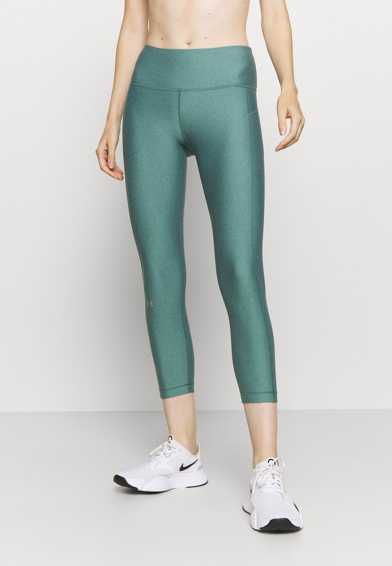 Under Armour - HI RISE CROP - Tights - saxon green light heather