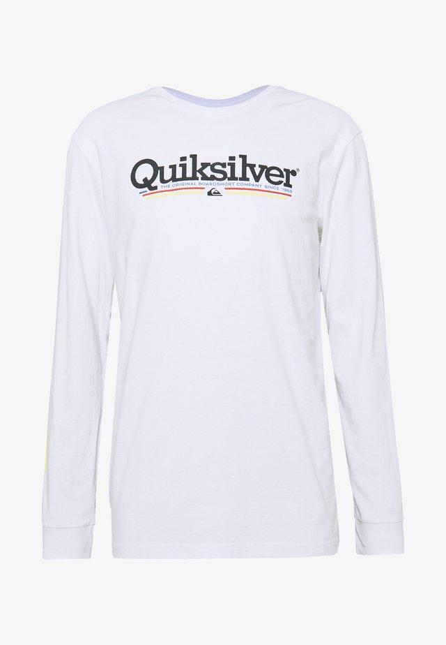 TROPICAL LINES  - T-shirt à manches longues - white