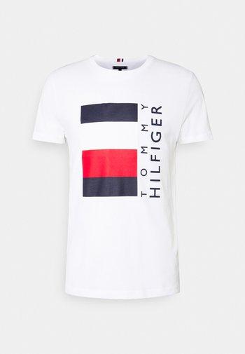 CORP STRIPE BOX TEE - T-shirt imprimé - white
