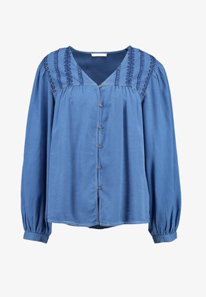 Blouse - grey blue