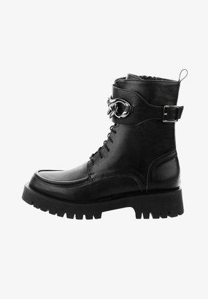 CAMPLI - Cowboy/biker ankle boot - black