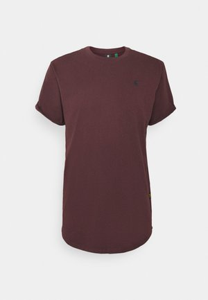 LASH ROUND SHORT SLEEVE - T-shirt - bas - dark fig