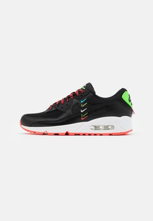 AIR MAX 90 - Matalavartiset tennarit - black/flash crimson/green strike/white