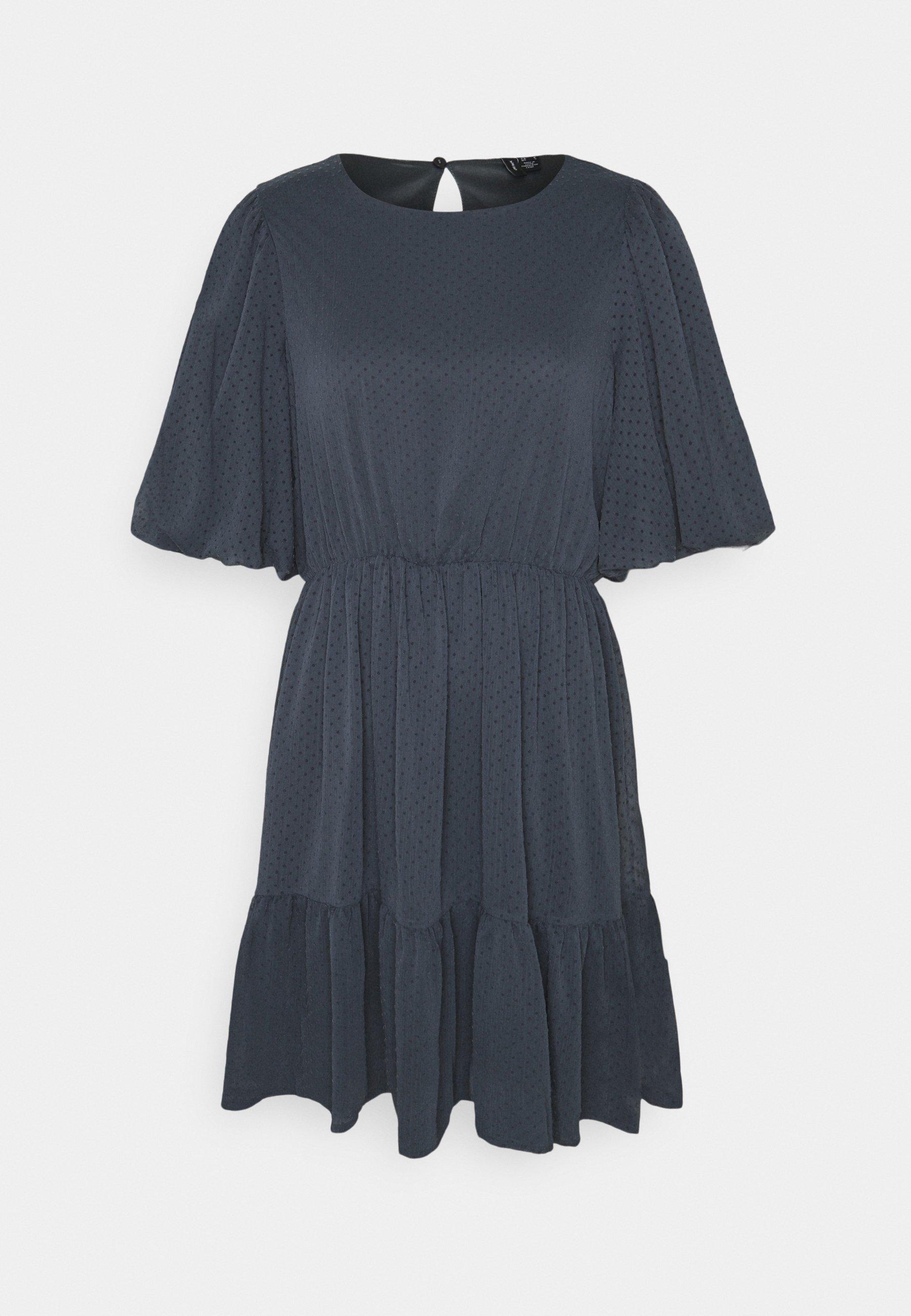 Women VMBARLETTA O NECK DRESS - Day dress