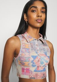 Jaded London - HALTER TOP WITH POPPER FASTENING PATCHWORK PRINT - Top - multi - 3