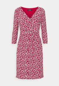 CLEORA LONG SLEEVE DAY DRESS - Day dress - lighthouse navy/red/cream