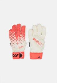 adidas Performance - PREDATOR FOOTBALL KIDS GOALKEEPER GLOVES UNISEX - Goalkeeping gloves - white/pop - 0