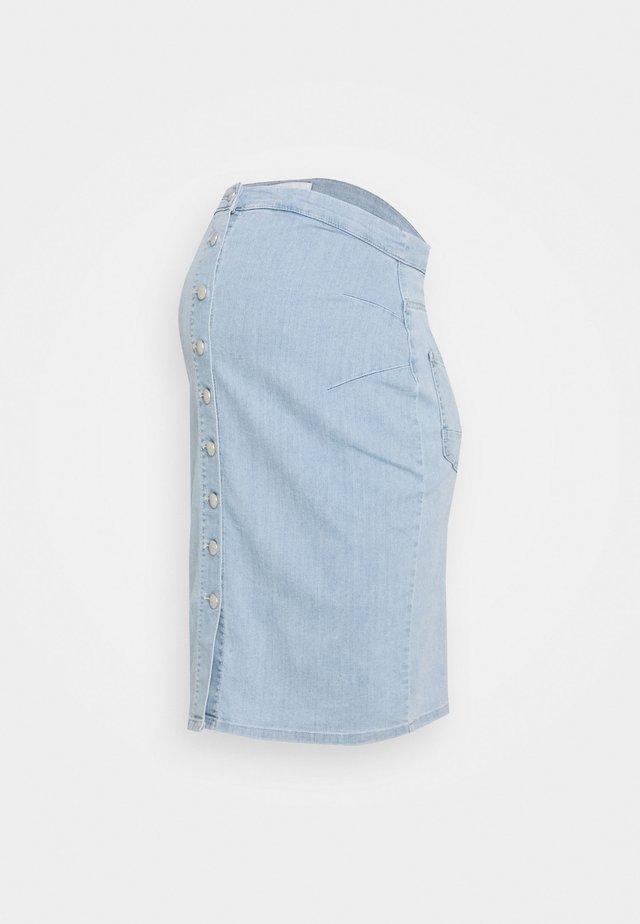 MLVILLA SKIRT - Pouzdrová sukně - light blue denim