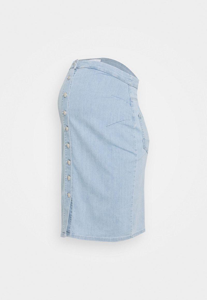MAMALICIOUS - MLVILLA SKIRT - Falda de tubo - light blue denim