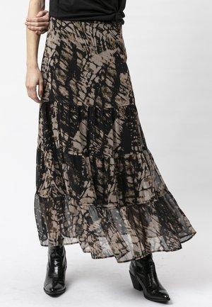 ASPECT - Maxi skirt - hide print