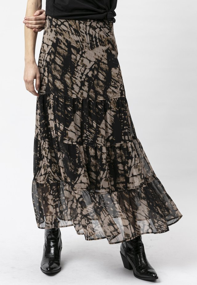 ASPECT - Maxi skirt - hide print