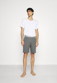 Pier One - LOUNGE HENLEY SHORTS - Pyjama bottoms - mottled dark grey - 1