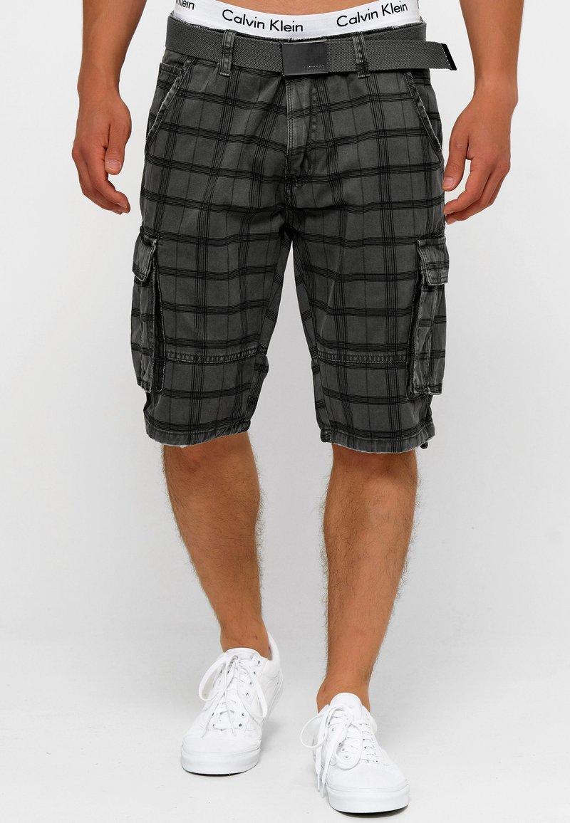 INDICODE JEANS - BLIXT - Shorts - raven check