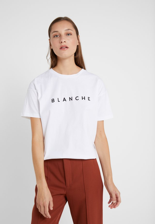 MAIN LIGHT - Basic T-shirt - white