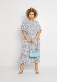 Glamorous Curve - TIERED DRESS WITH SLEEVES - Day dress - white - 1