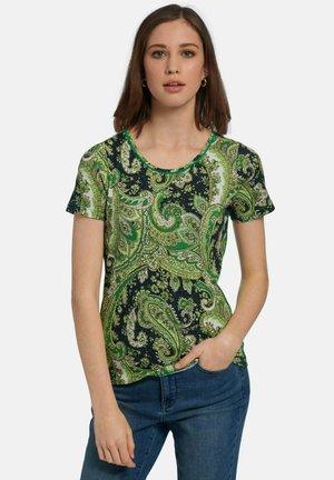 Print T-shirt - grün/multicolor