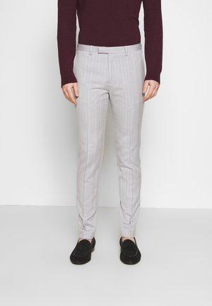 BONE STRIPE TROUSER SKINNY - Pantalon - grey