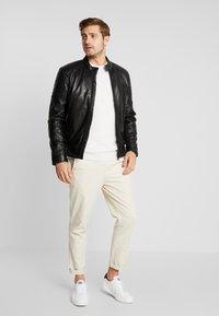 Strellson - DERRY - Leather jacket - black - 1