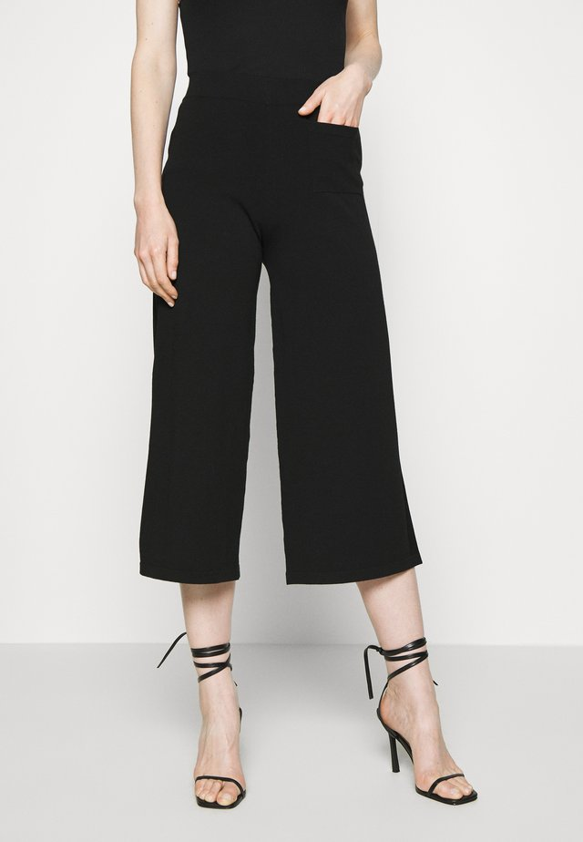 HEAVY PANT - Pantalones - pure black